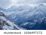 mountains snow landscape on the ... | Shutterstock . vector #1036497172
