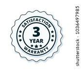 3 year warranty | Shutterstock .eps vector #1036497985