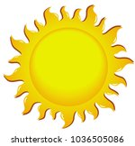 yellow happy sun | Shutterstock . vector #1036505086