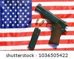 1911 . 45 caliber pistol...   Shutterstock . vector #1036505422