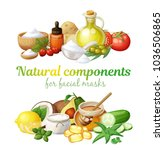 natural components together... | Shutterstock .eps vector #1036506865
