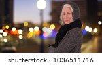 confidently posing white female ... | Shutterstock . vector #1036511716