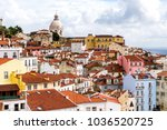 lisbon  skyline from the alfama ... | Shutterstock . vector #1036520725