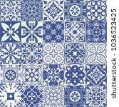 big set of tiles background.... | Shutterstock . vector #1036523425