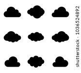 cloud vector icon set....