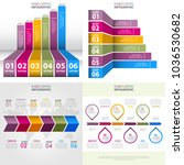 set of business infographics ... | Shutterstock .eps vector #1036530682