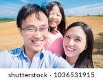 Family Smile And Selfie Happily ...