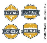 las vegas nevada travel stamp... | Shutterstock .eps vector #1036533412