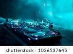 dj stand at a party | Shutterstock . vector #1036537645