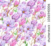 seamless background  floral... | Shutterstock . vector #1036540006
