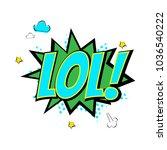 comics bubble icon speech... | Shutterstock .eps vector #1036540222