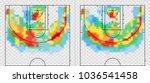 basketball court with heat map. ... | Shutterstock .eps vector #1036541458