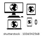 computer elements design | Shutterstock .eps vector #1036542568