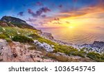 amazing sunset view with... | Shutterstock . vector #1036545745