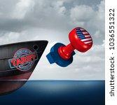 american trade tariff as steel... | Shutterstock . vector #1036551322