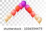 realistic helium balloons... | Shutterstock .eps vector #1036554475