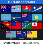 set of all flags of the... | Shutterstock .eps vector #1036558042