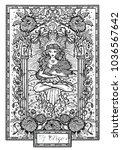 zodiac sign virgin or virgo... | Shutterstock .eps vector #1036567642