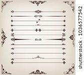 set of vintage line with...   Shutterstock .eps vector #1036577542
