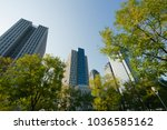 modern office building with...   Shutterstock . vector #1036585162