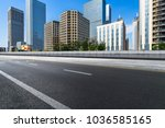 city empty traffic road with... | Shutterstock . vector #1036585165