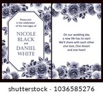 invitation with floral... | Shutterstock . vector #1036585276