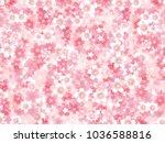 cherry blossoms spring flower...   Shutterstock .eps vector #1036588816