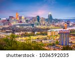cincinnati  ohio  usa skyline... | Shutterstock . vector #1036592035