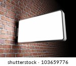 blank advertising billboard on... | Shutterstock . vector #103659776