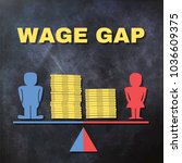 wage gap concept illustration   ... | Shutterstock .eps vector #1036609375