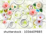 flowers on an abstract... | Shutterstock . vector #1036609885