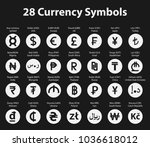 symbols of currency in a circle ... | Shutterstock .eps vector #1036618012