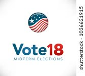 election header banner w  vote  | Shutterstock .eps vector #1036621915