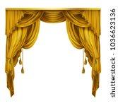 vector silk  velvet theatrical... | Shutterstock .eps vector #1036623136
