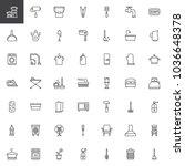 household elements outline... | Shutterstock .eps vector #1036648378