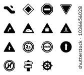 solid vector icon set  ... | Shutterstock .eps vector #1036656028