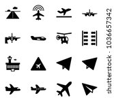 solid vector icon set   runway... | Shutterstock .eps vector #1036657342