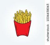 hand drawn vector illustration... | Shutterstock .eps vector #1036658065