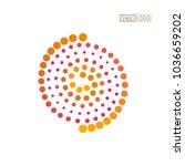 spiral logo shaft of sunlight... | Shutterstock .eps vector #1036659202