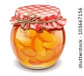 peach jam - stock vector