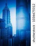shanghai landmarks complex... | Shutterstock . vector #1036675312