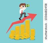 businessman searching money on...   Shutterstock .eps vector #1036682458