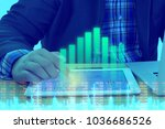 businessman on digital stock...   Shutterstock . vector #1036686526