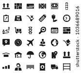 flat vector icon set   earth... | Shutterstock .eps vector #1036689016