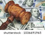 usa dollar cash and auctioneers ... | Shutterstock . vector #1036691965