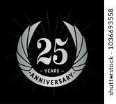 25 years anniversary. elegant... | Shutterstock .eps vector #1036693558