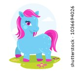 colorful pony fantasy horse  | Shutterstock .eps vector #1036694026