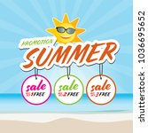 end of summer sale banner... | Shutterstock .eps vector #1036695652