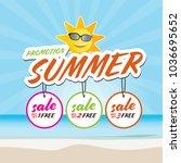 end of summer sale banner... | Shutterstock .eps vector #1036695652