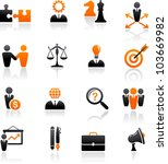 set of business and strategy... | Shutterstock .eps vector #103669982